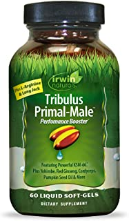 Irwin Naturals Tribulus Primal Male - Supports Enhanced Stamina and Energy with L-Arginine, Yohimbe, Long Jack, Ginseng, P...