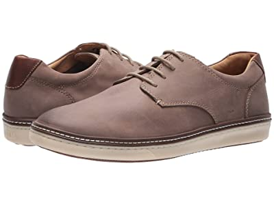 Johnston & Murphy McGuffey Casual Plain Toe Sneaker (Gray Nubuck) Men