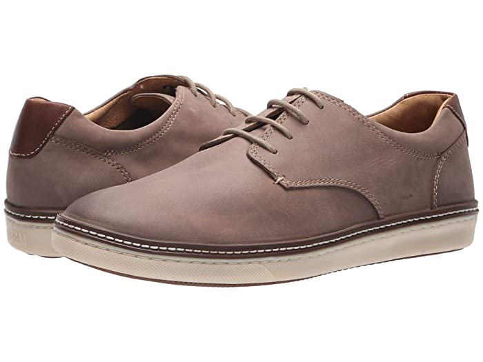Johnston and Murphy  McGuffey Casual Plain Toe Sneaker (Gray Nubuck) Mens Lace up casual Shoes