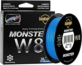 SeaKnight Monster W8 Braided Lines 8 Strands Weaves 328Yards/547Yards Super Smooth PE Braided Multifilament Fishing Lines for Sea Fishing 15-100LB