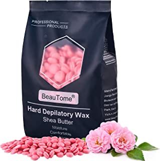 Sponsored Ad - BeauTome Hard Wax Beans for Hair Removal, Coarse Body Hair Specific, 92% removal rate, Less Painful, Non-st...