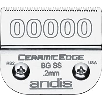 Andis 64730 CeramicEdge Carbon-Infused Steel Detachable Clipper Blade, Size 00000, 1/125-Inch Cut Length