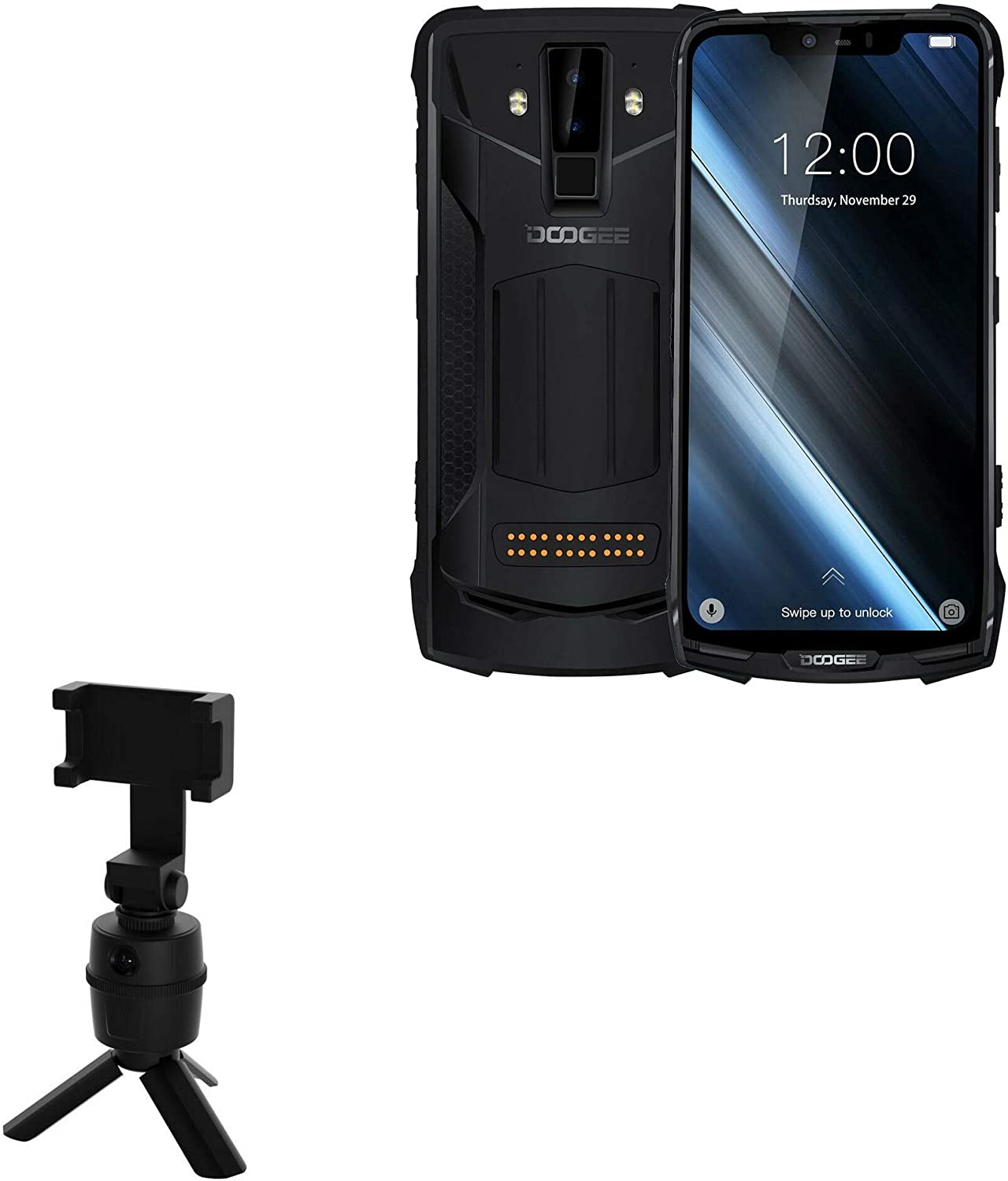 Doogee S90 Stand and Mount Fa sold out BoxWave Clearance SALE! Limited time! Selfie PivotTrack