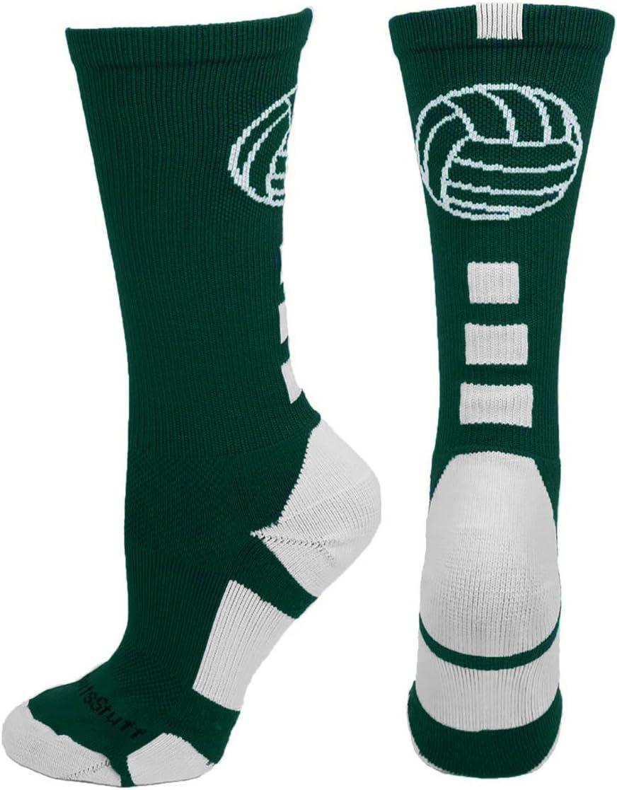 Multiple Colors MadSportsStuff Volleyball Logo Crew Socks
