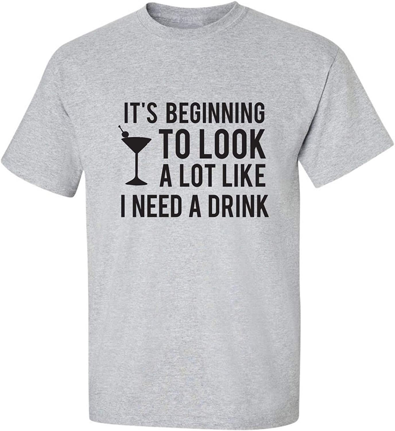 It's Beginning to Look A Lot Like Adult T-Shirt in Sport Grey - XXXX-Large
