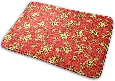 Turtles Red Carpet Non-Slip Welcome Front Doormat Entryway Carpet Washable Outdoor Indoor Mat Room Rug 15.7 X 23.6 inch