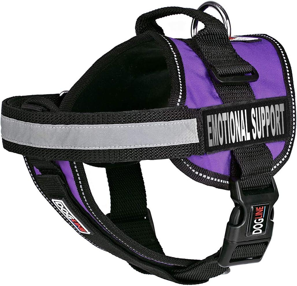 Dogline Vest Harness for Dogs 2 Removable Emotional Popular brand Branded goods and Support