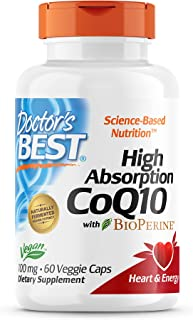 Doctor's Best High Absorption CoQ10 with Bioperine - 100 mg - 60 Capsules
