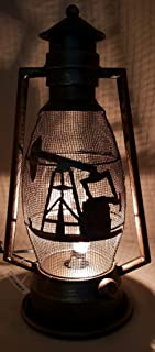 Western Bronze Oilfield Pumping Unit Lantern Light Oilfield Gift Oil Drill rig Derrick lamp Model Awards Executive Office Decoration