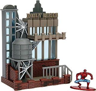 Jada Nano Metalfigs 99983 Toys Marvel Spider Man City Scene-Daily Bugle Display with Figure, Multicolor