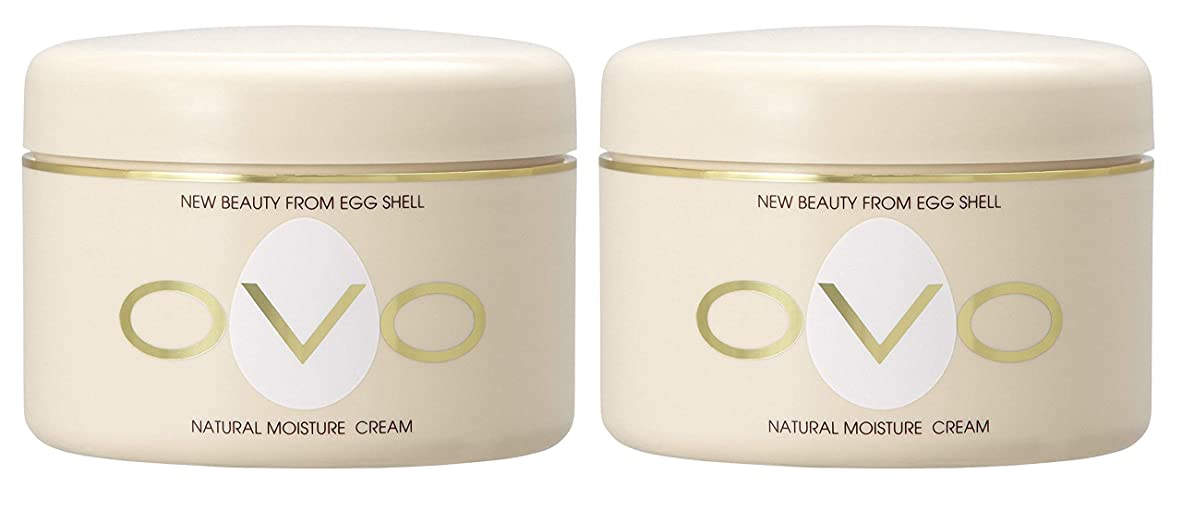 こどもの日単にメイトovo オーヴォ ナチュラルモイスチュアクリーム 卵殻エキス配合 天然素材由来の低刺激スキンケア 150g 2個セット
