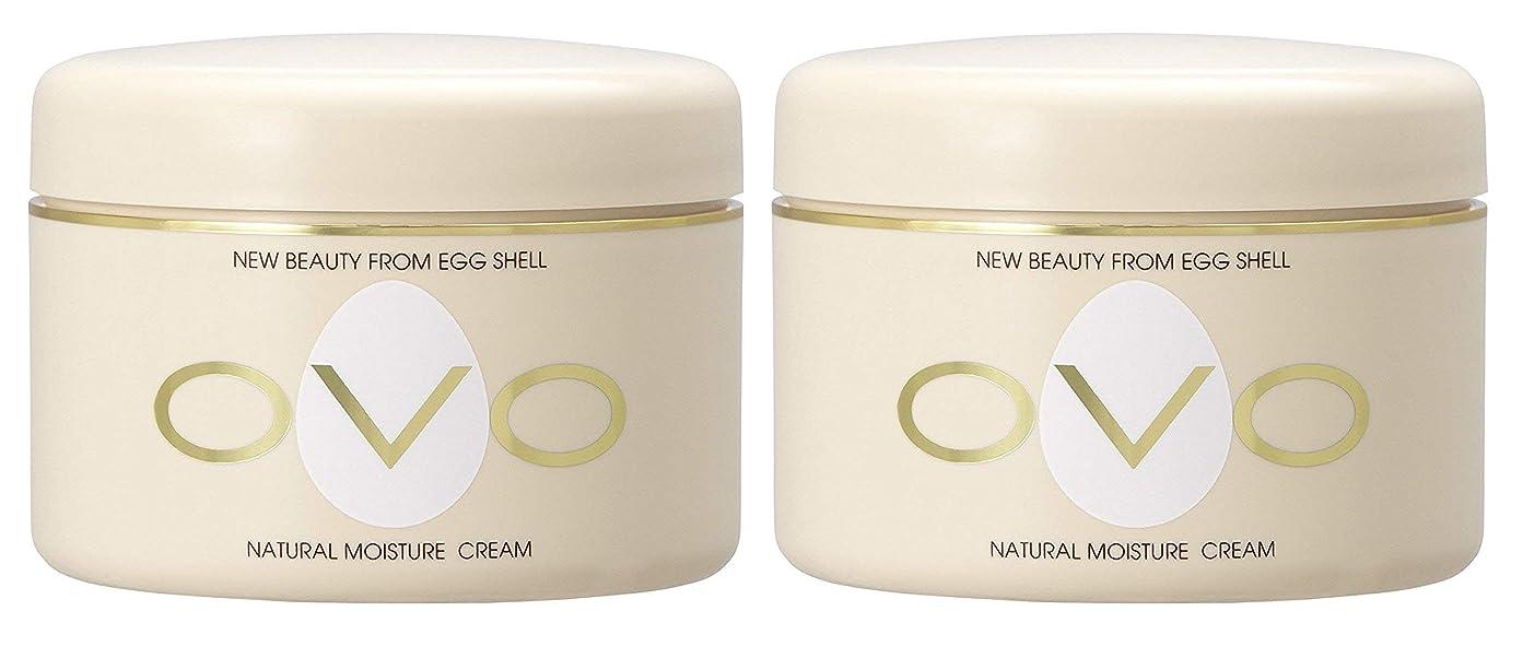 基準合体故国ovo オーヴォ ナチュラルモイスチュアクリーム 卵殻エキス配合 天然素材由来の低刺激スキンケア 150g 2個セット