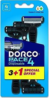 DORCO Pace 4 Men's Disposable Razors, 4 Count ' 1 Units