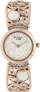 Women's Raga Aurora Stainless Steel Analog-Quartz Watch with Brass Strap, Rose Gold, 10 (Model: 95046WM01)