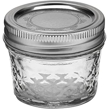Ball 4-Ounce Quilted Crystal Jelly Jars with Lids and Bands, Set of 12