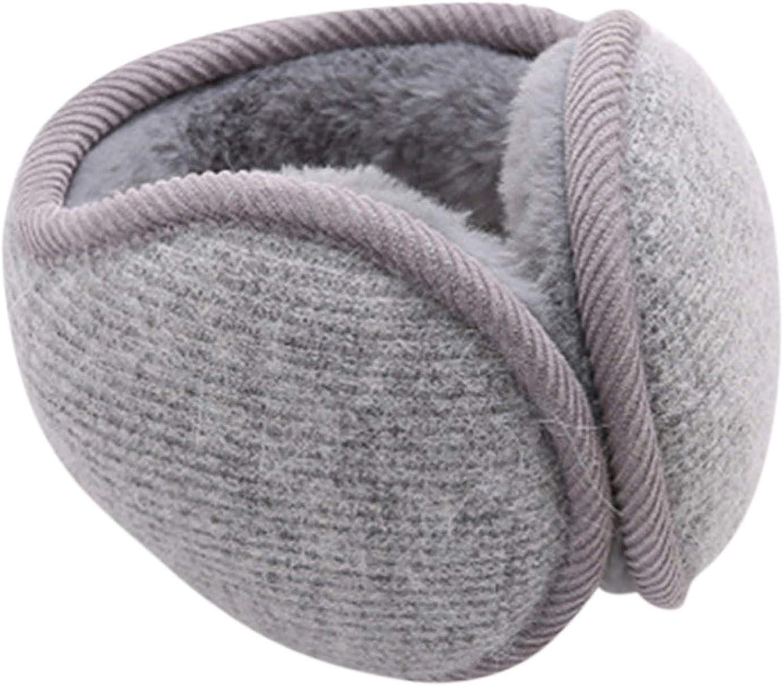 HUIHE Winter Knit EarMuffs,Foldable Adjustable Ear Warmer, Men Women Earmuffs