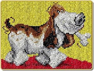 X-xyA Handicraft Latch Hook Kit, 20.5 x 15 Inch DIY Rug Crochet Yarn Home decoration Crocheting Carpet