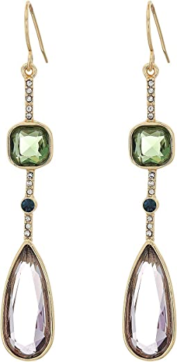 LAUREN Ralph Lauren - Channel Stone Drop with Pave Earrings