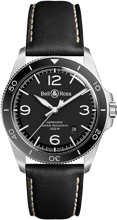 Orologio  - bell & ross vintage br v2-93 gmt orologio uomo brv293-bl-st/srb