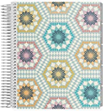 Erin Condren 18-Month 2019-2020 Coiled Life Planner 7x9 (July 2019-December 2020) - Mosaic, Hourly (Neutral Layout)