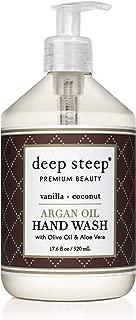 Deep Steep Argan Oil Hand Wash, Vanilla Coconut, 17.6 Fluid Ounce
