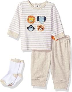 Little Me Baby-Boys Jogger Set Long Sleeve T-Shirt Set
