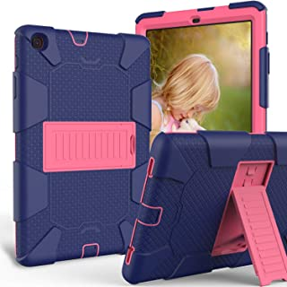 Galaxy Tab A 10.1 2019 T510 T515 Case, ZERMU Kickstand Three Layer Heavy Duty Shockproof PC+Silicone Hybrid Impact Resistant Defender Protective Case for Samsung Galaxy Tab A 10.1 2019 SM-T510/SM-T515