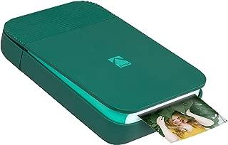 KODAK Smile Instant Digital Printer – Pop-Open Bluetooth Mini Printer for iPhone & Android – Edit, Print & Share 2x3 ZINK Photos w/FREE Smile App – Green