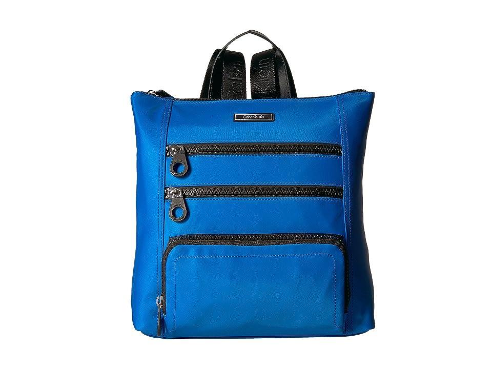 Calvin Klein Athleisure Nylon Backpack (Marine/Black) Backpack Bags