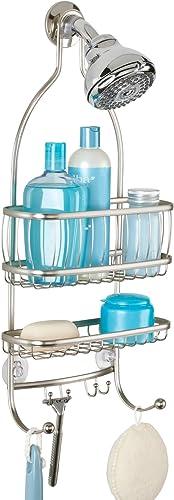 InterDesign York Lyra Bathroom Shower Caddy for Shampoo, Conditioner, Soap - Satin product image