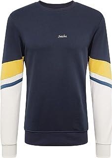 Jack & Jones Originals Sweater Mens Block Print Jumper Sweatshirt JORMalte 12155564
