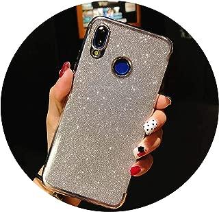 Glitter Frame TPU Phone Cases for Huawei P20 Lite Cover P10 P9 P8 Mate 10 Nova 2 3 Honor 9 7X 8X Y6 Prime Y9 2018 Silicone Case,Glitter Silver,for P9 Lite 2017