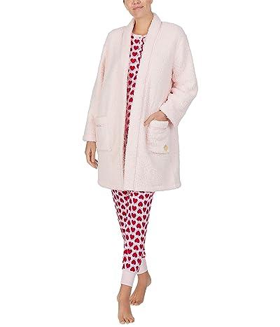 Kate Spade New York Faux-Sherpa Fleece Robe (Pink) Women