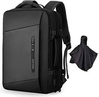 Markryden Laptop Backpack with raincover carry-on travel backpack water-proof expandable backpack with Rain Cover USB Char...