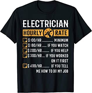 Best electrician t shirts Reviews