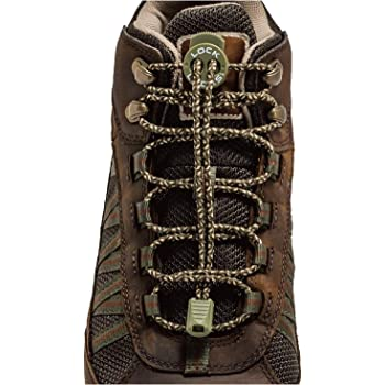 LOCK LACES for Boots (1 Pair) Premium Heavy Duty Elastic No Tie Boot Laces for Boots and Shoes