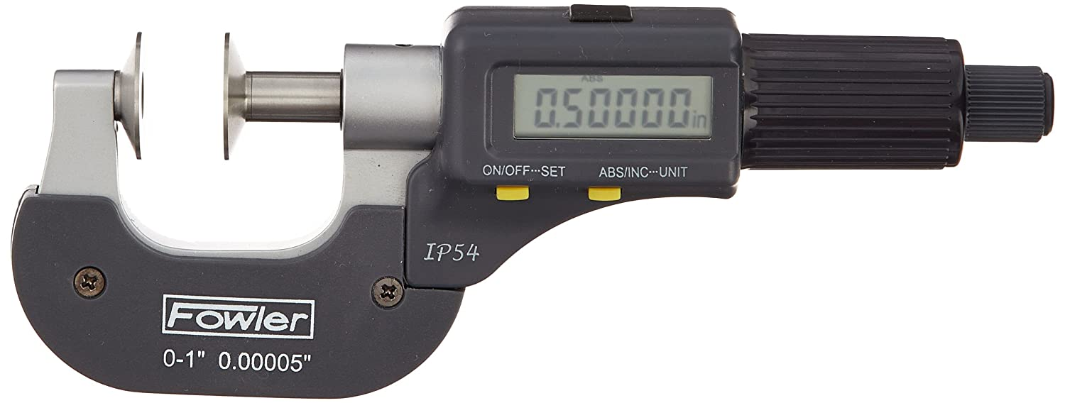 Fowler 54-860-301 Beauty products Electronic IP54 Disc Micrometer Cash special price 0-25mm M 0-1