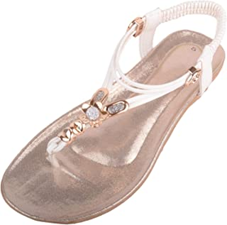 ABSOLUTE FOOTWEAR Womens Summer/Holiday Gladiator Style Sandals/Shoes/Flip Flops