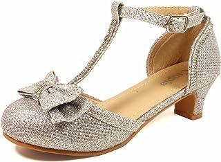 c6ba9aaf153e7 Nova Utopia Toddler Little Girls Low Medium Heel Dress Sandal Flower Girl  Shoes (Size 9