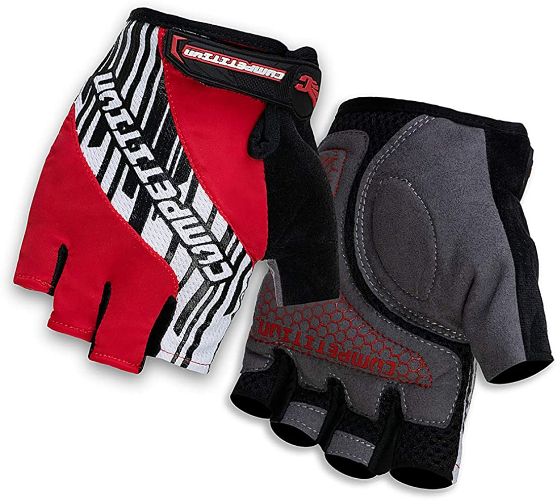 PTSOC Mountain Road Bike Gloves for Men Women with Shock-Absorbing Anti-Slip Breathable Cycling Gloves