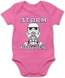 Shirtracer Storm Pooper Mädchen - Baby Body Kurzarm für Jungen und Mädchen
