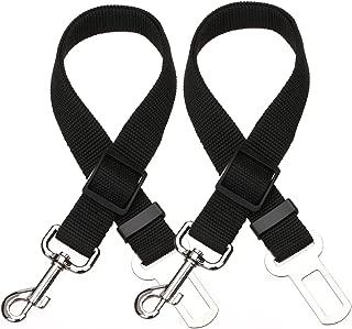 Elisel 2 Packs Adjustable Length pet car seat Belt pet seat Belt Safety Belt Dog Rope