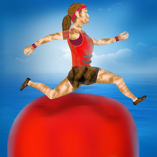 verano juegos divertidos: curso de agua obstáculo concursante tv - Edición gratuita
