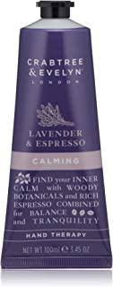 Crabtree & Evelyn Calming Hand Cream Therapy, Lavender and Espresso - 3.45 oz