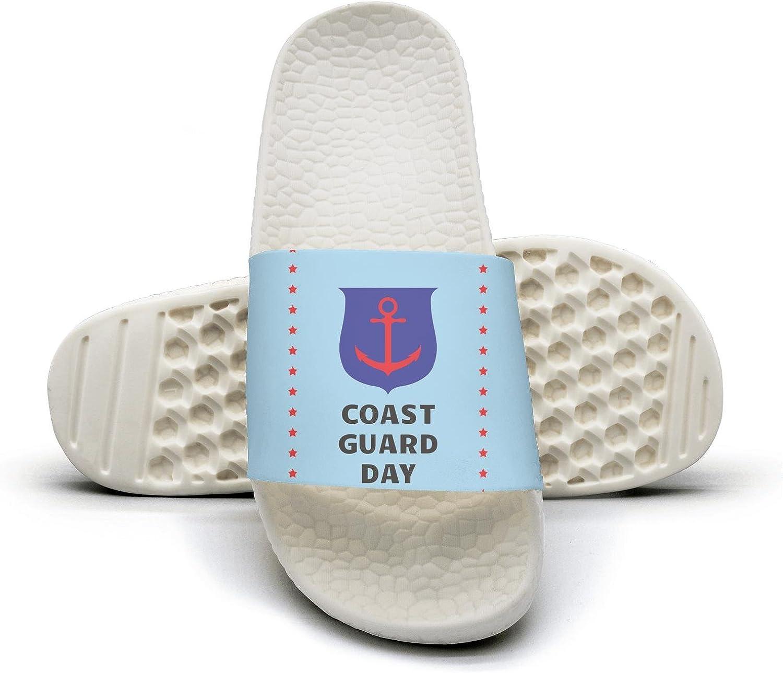 Ina Fers.Slide Sandals For Women Coast Guard Day Indoor Bath Slipper Anti-Slip House Sandal