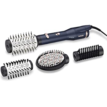 BaByliss AS500E Rotierende Warmluftbürste Set Digital Sensor Ionic, 650 W