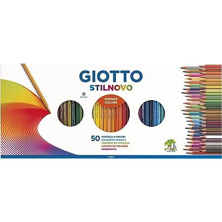 Giotto Stilnovo - Set con 50 lápices y 1 Sacapuntas, Multicolor