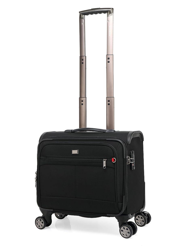 装置羨望パウダークロース(Kroeus)ソフトキャリーバッグ スーツケース 機内持込 小型 ビジネス TSAロック搭載 4輪 ネームタグ付き ブラック