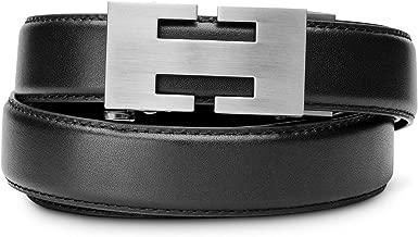 "KORE Slim Full-Grain Leather Track Belts   ""Imagine"" Alloy Buckle"