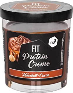 nu3 Fit Protein Creme - 200g Crema de chocolate y avellanas - Sin aceite de palma ni gluten - 90% menos azúcar - 21% de proteína - Excelente alternativa fitness baja en carbohidratos